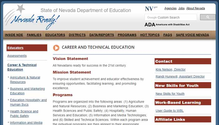 CAREER AND TECHNICAL EDUCATION main page