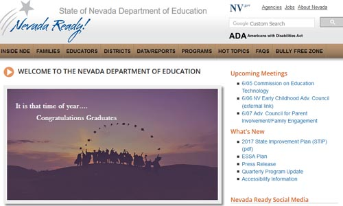 Department of education main page