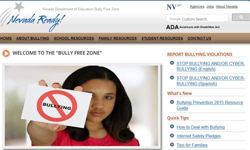 Bully Free Zone main page